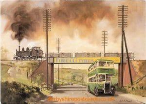Ashover Light Railway crossing the Pirelli Bridge, Derby Road