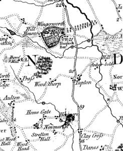 Tupton on Burdett's Map 1791