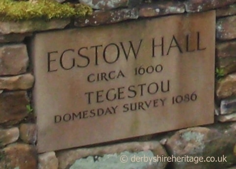 Egstow Hall plaque