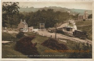 Terminus of Ashover Light Railway at the Butts, Ashover